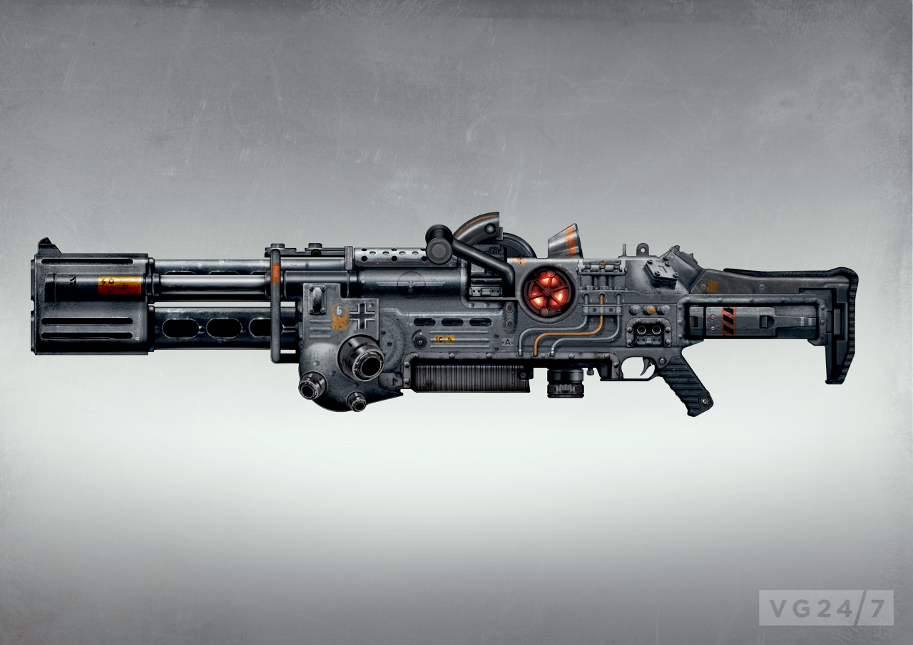 Wolfenstein The New Order E3 Shots Show Gunplay Weapons Mechs on robots fighting vehicle