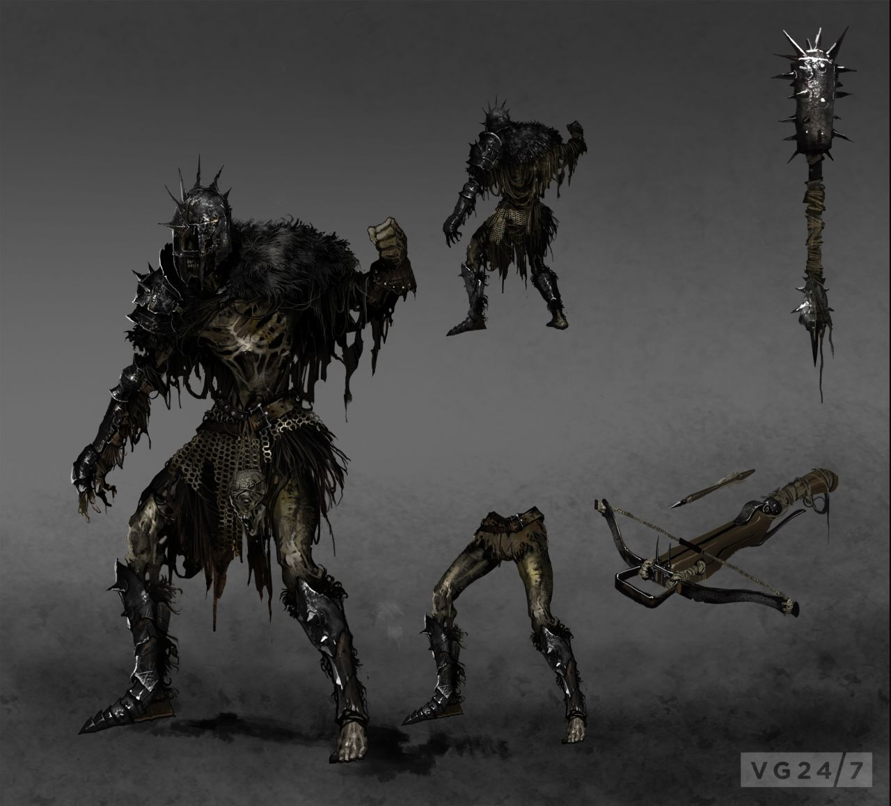 Dark Souls 2 Screens And Concept Art Are Dark, Some A Bit Scary
