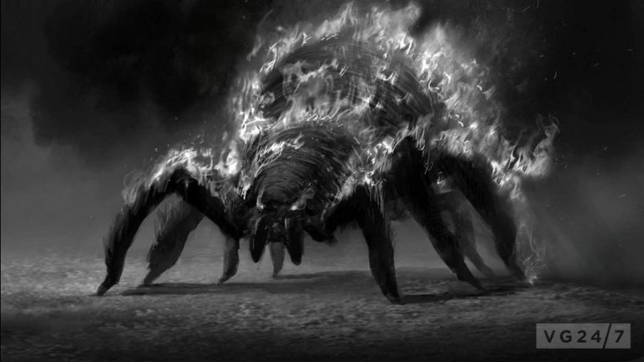 dark souls 2  leaked concept art shows castles  spiders