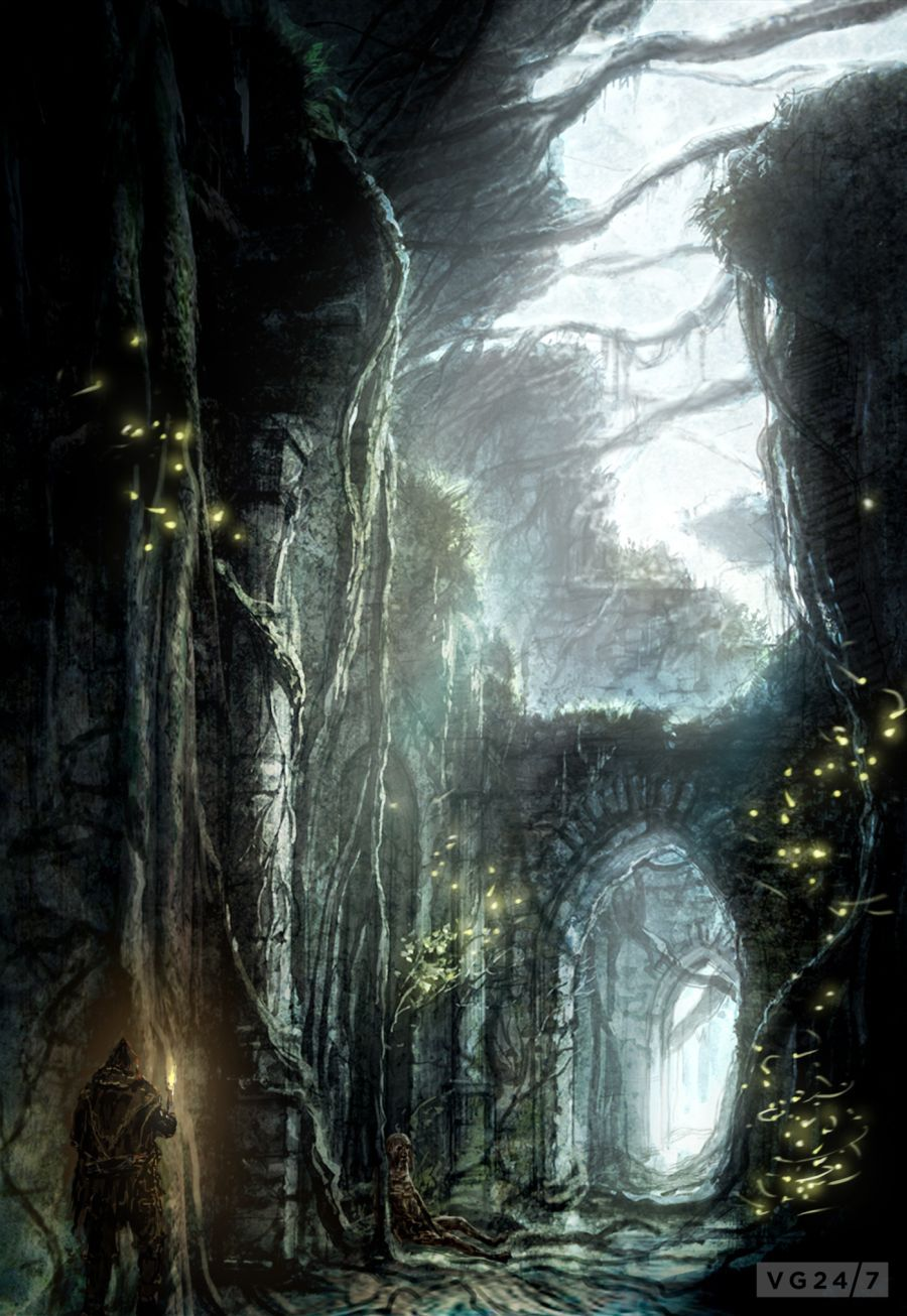 Dark Souls 2 screens and concept art are dark, some a bit ...