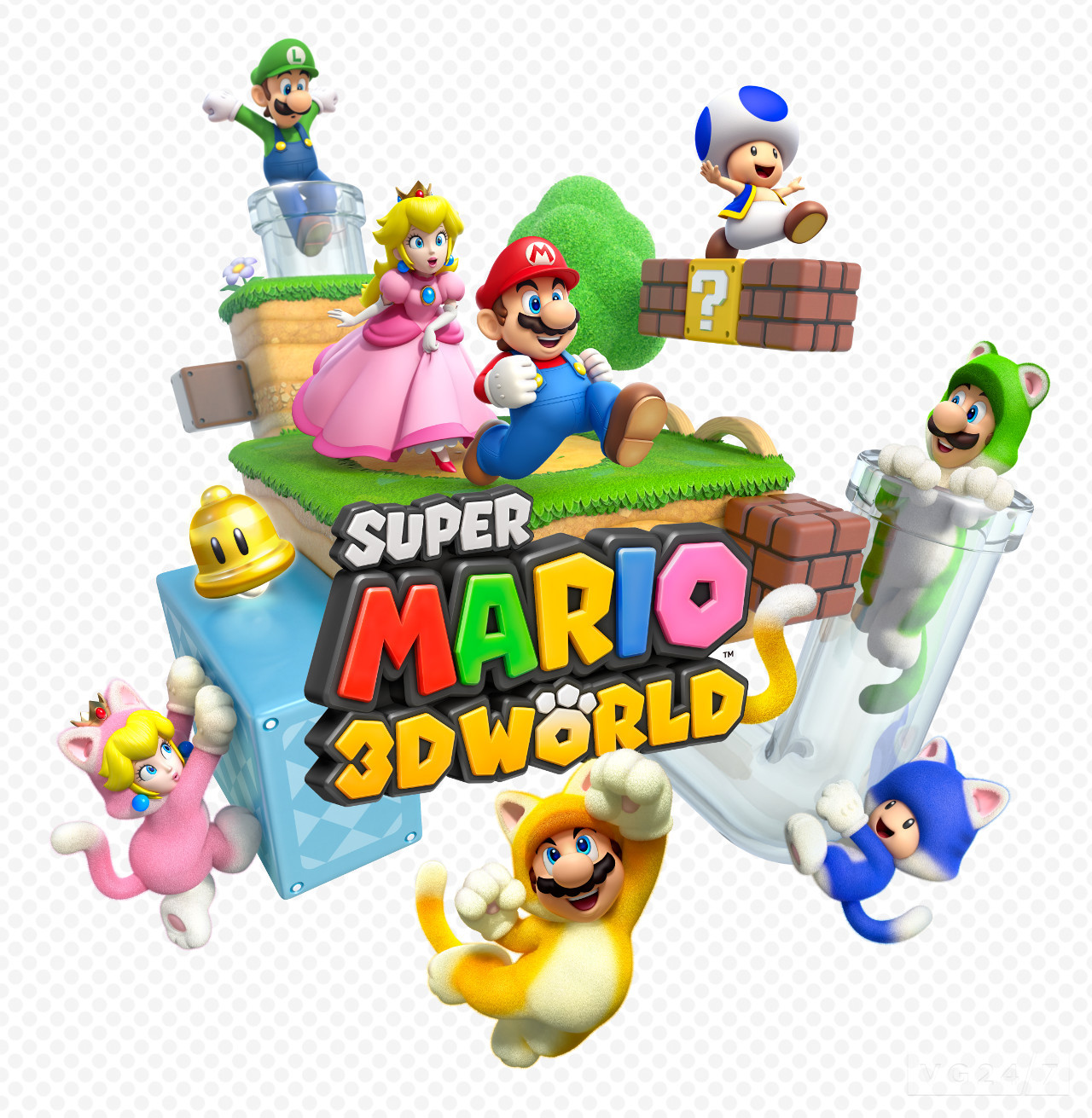 mario 3d world out december on wii u screens