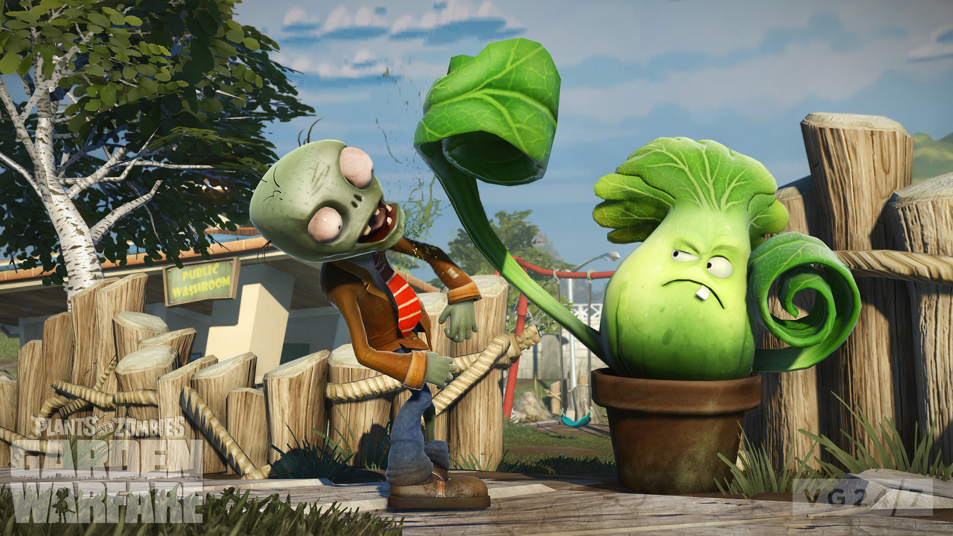 Plants vs zombies garden warfare coming first to xbox one then xbox