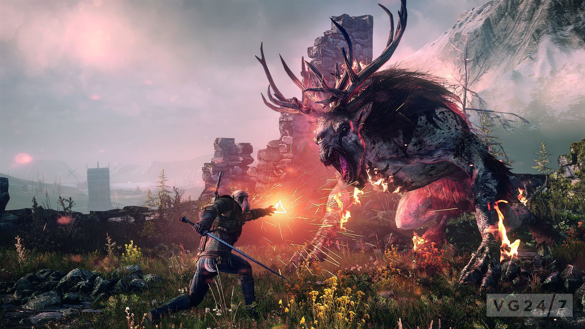 the witcher 3 wild hunt screens are pretty terrifying vg247. Black Bedroom Furniture Sets. Home Design Ideas