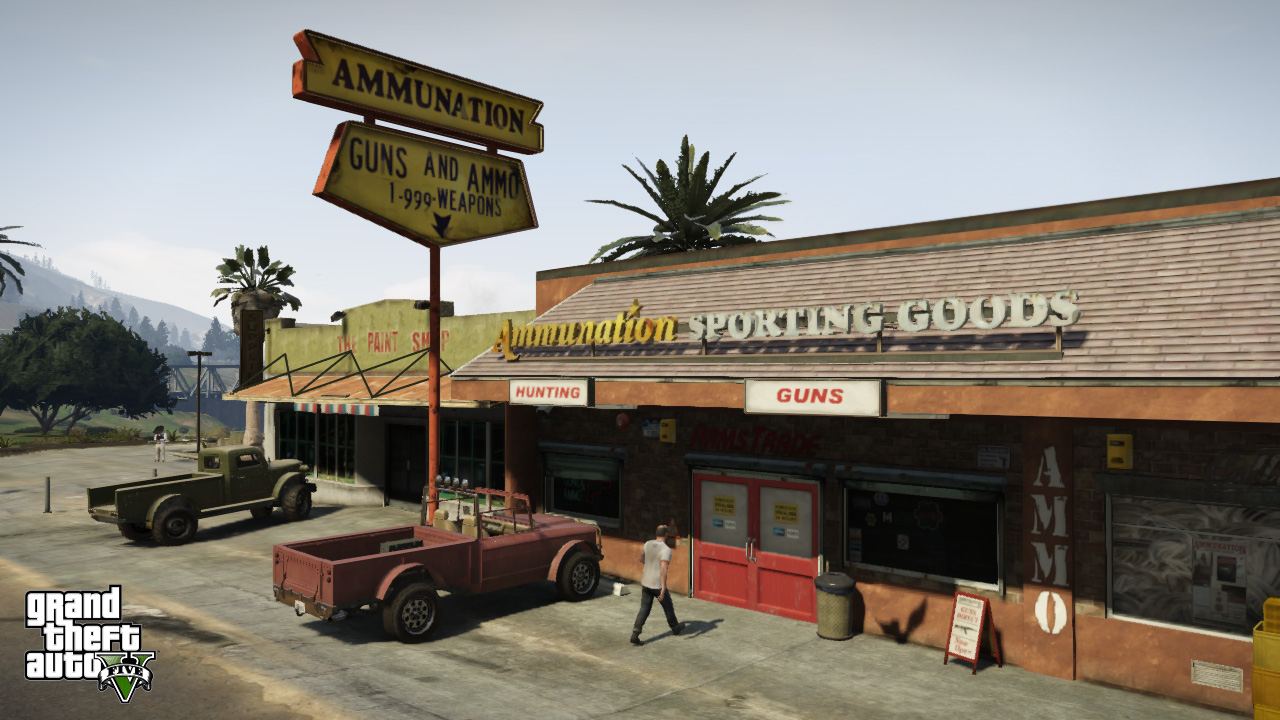 grand theft auto 5 shots show off more of the game video. Black Bedroom Furniture Sets. Home Design Ideas