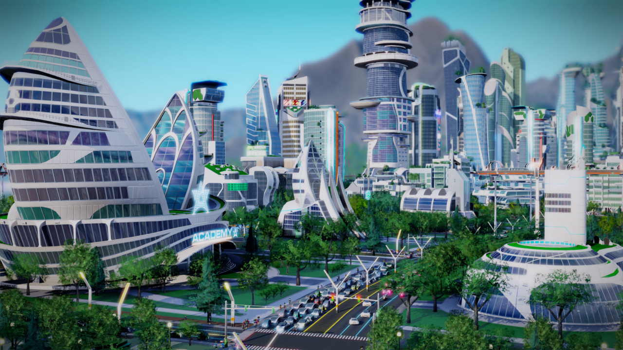 Simcity Cities Of The Future Expansion Due In November on Neoclassical Home Drawings