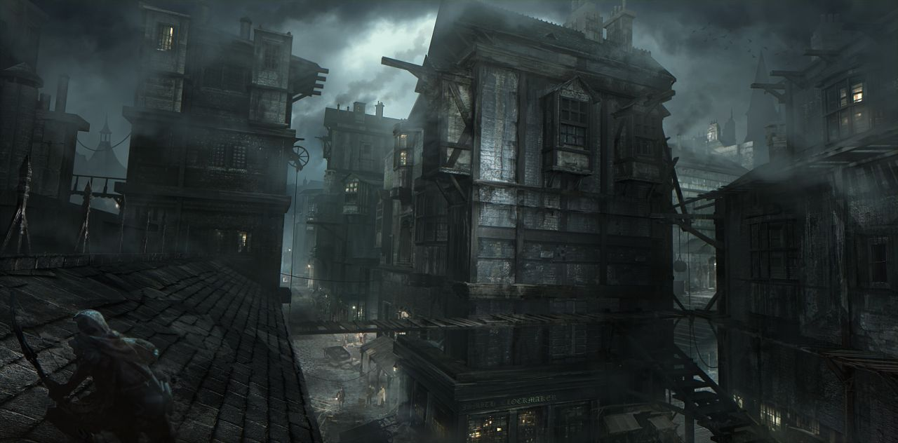 Thief screenshots and concept art show the game 39 s first for Dark house music