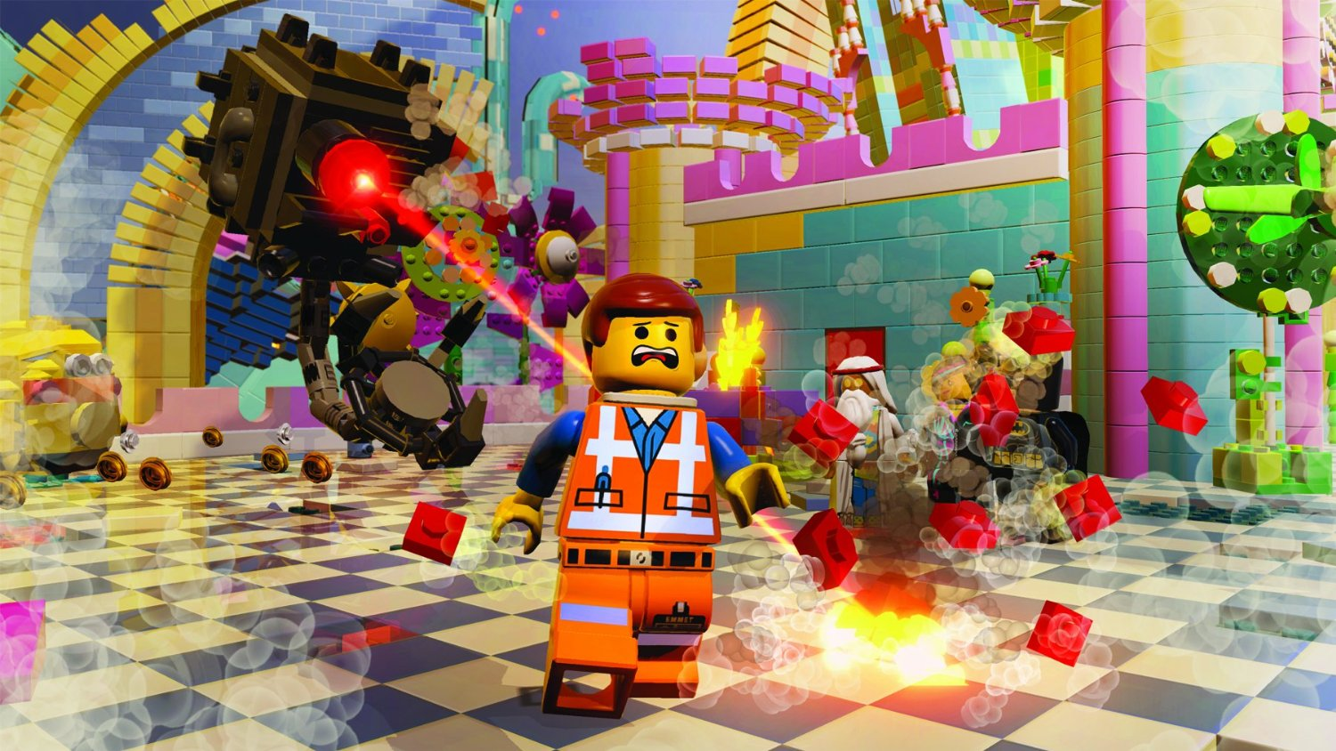 Lego Movie Videogame screens show Batman, brick explosions ...