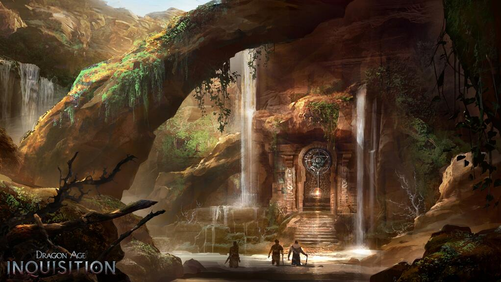 dragon age  inquisition concept art shows people  landscapes  structures