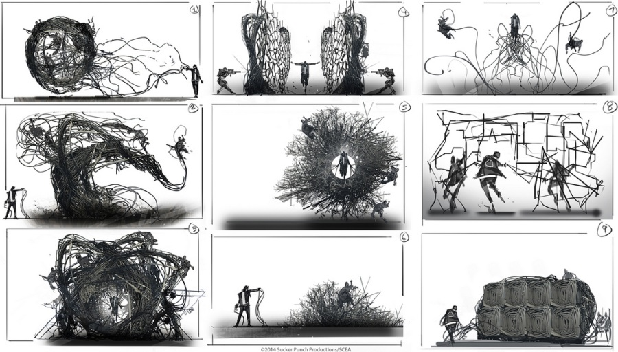 Pubg Fanart Acrylics Paper: InFamous: Second Son Art Shows Powers That Never Made It