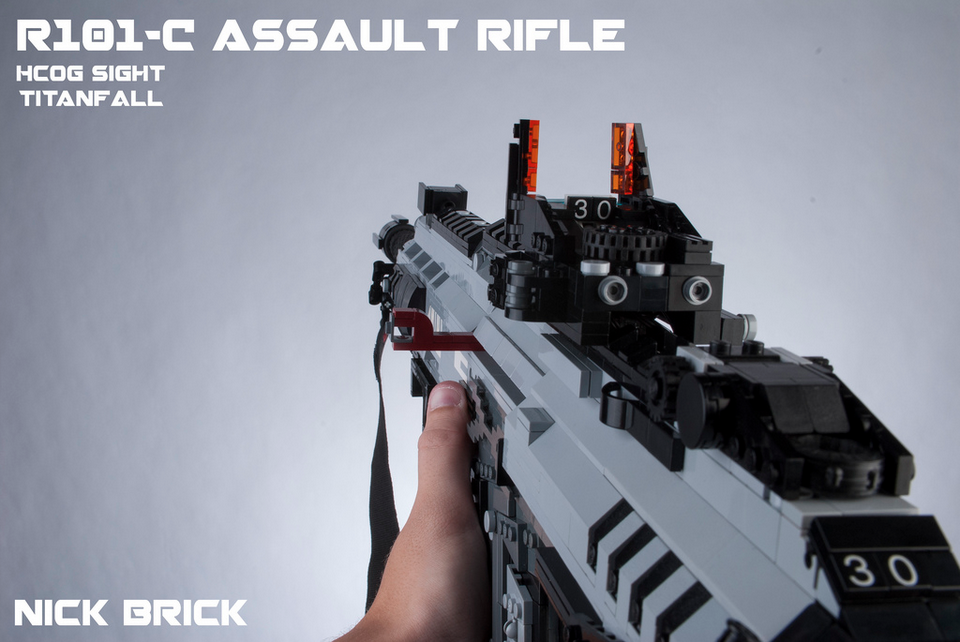 titanfall weapons made in lego are scarily accurate vg247
