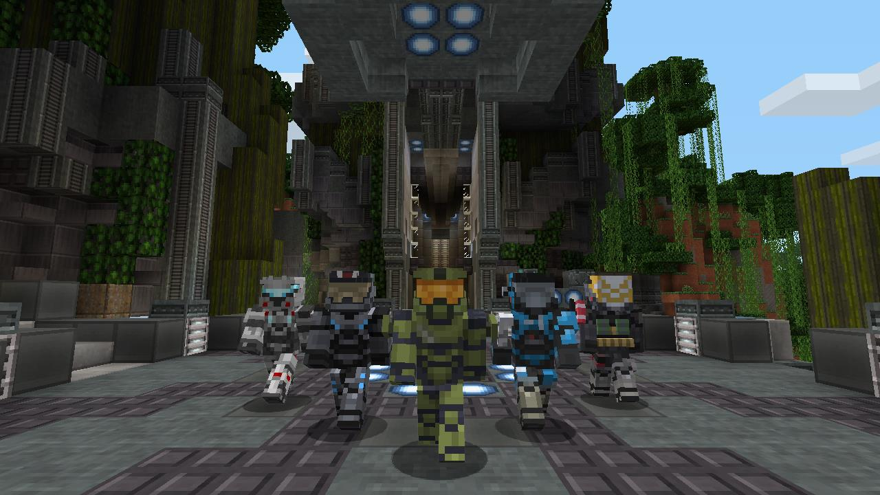 Your own halo 5 in this new minecraft xbox 360 mash up pack vg247