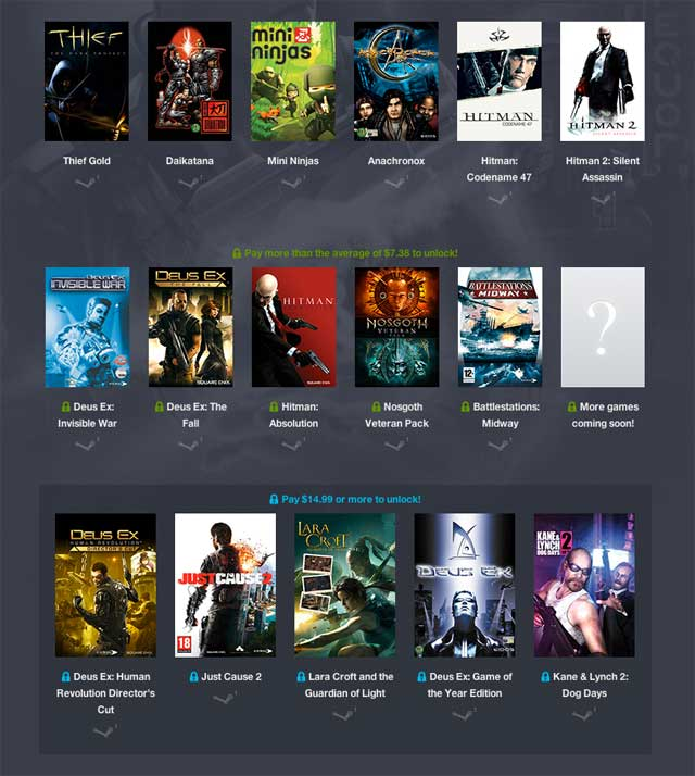The Square Enix Humble Bundle packs in some proper good games