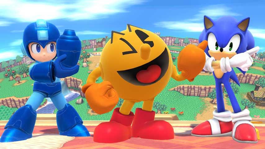 Mario Vs Sonic Vs Megaman Vs Pacman Super Smash Bros. 3DS ...