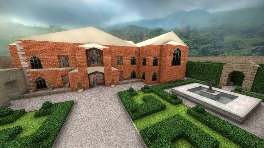 explore lara croft u0026 39 s mansion in this great cs go map