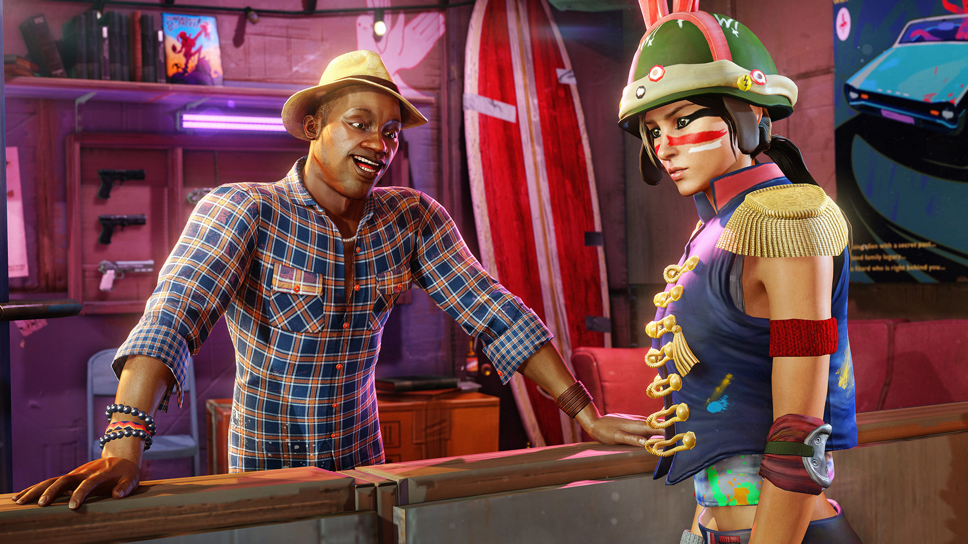 sunset overdrive screens show action on foot and in the