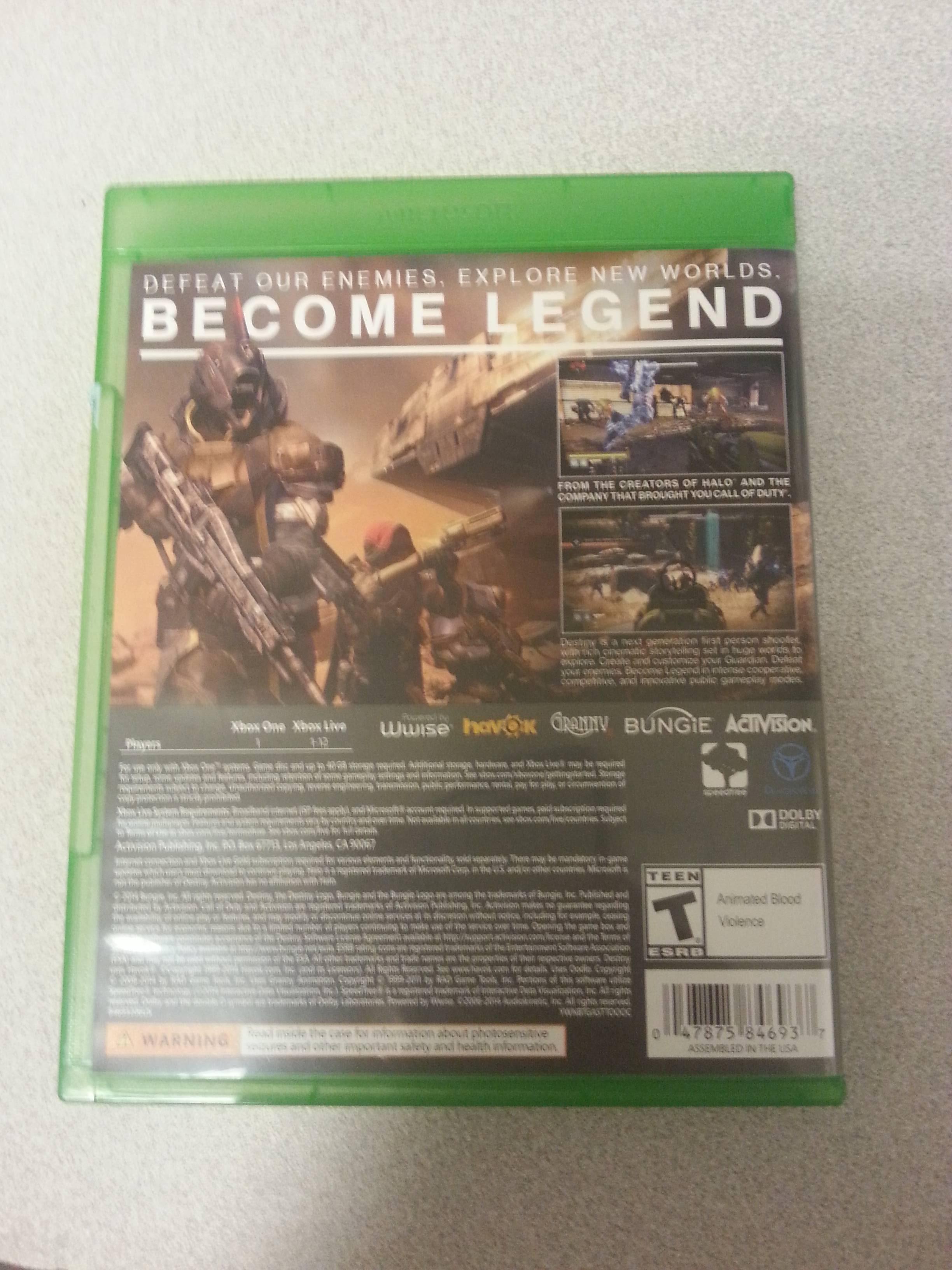 Destiny Download Size Xbox One4