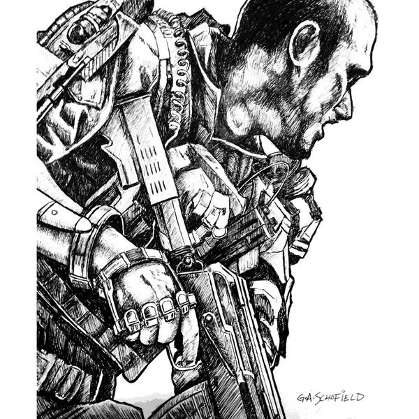 Here S Some Cod Advanced Warfare Sketches From Sledgehammer S Glen Schofield Vg247