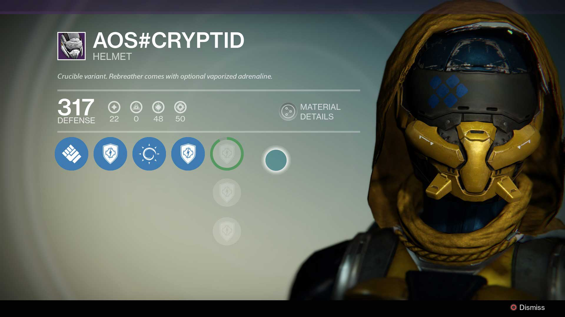 Ll start us off with a look at my hunter s legendary helmet and