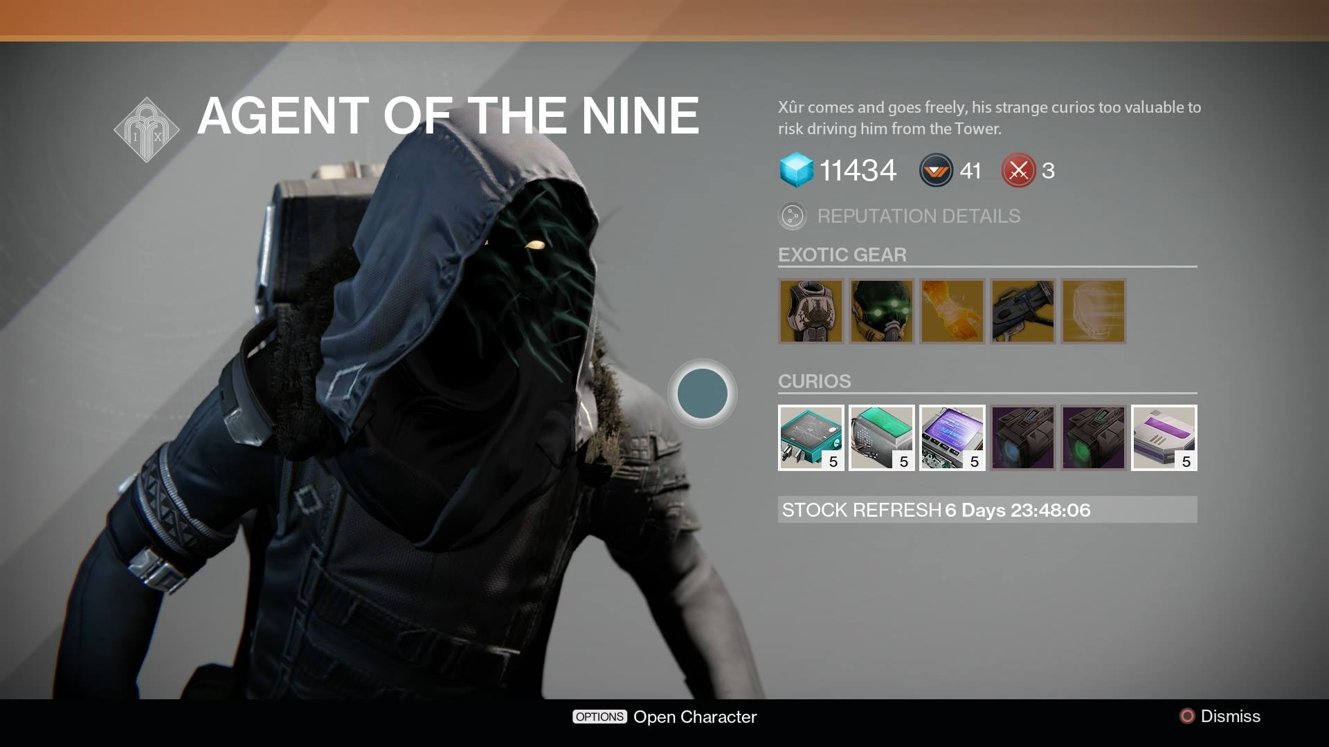 The week again xur agent of the nine is back in destiny s tower
