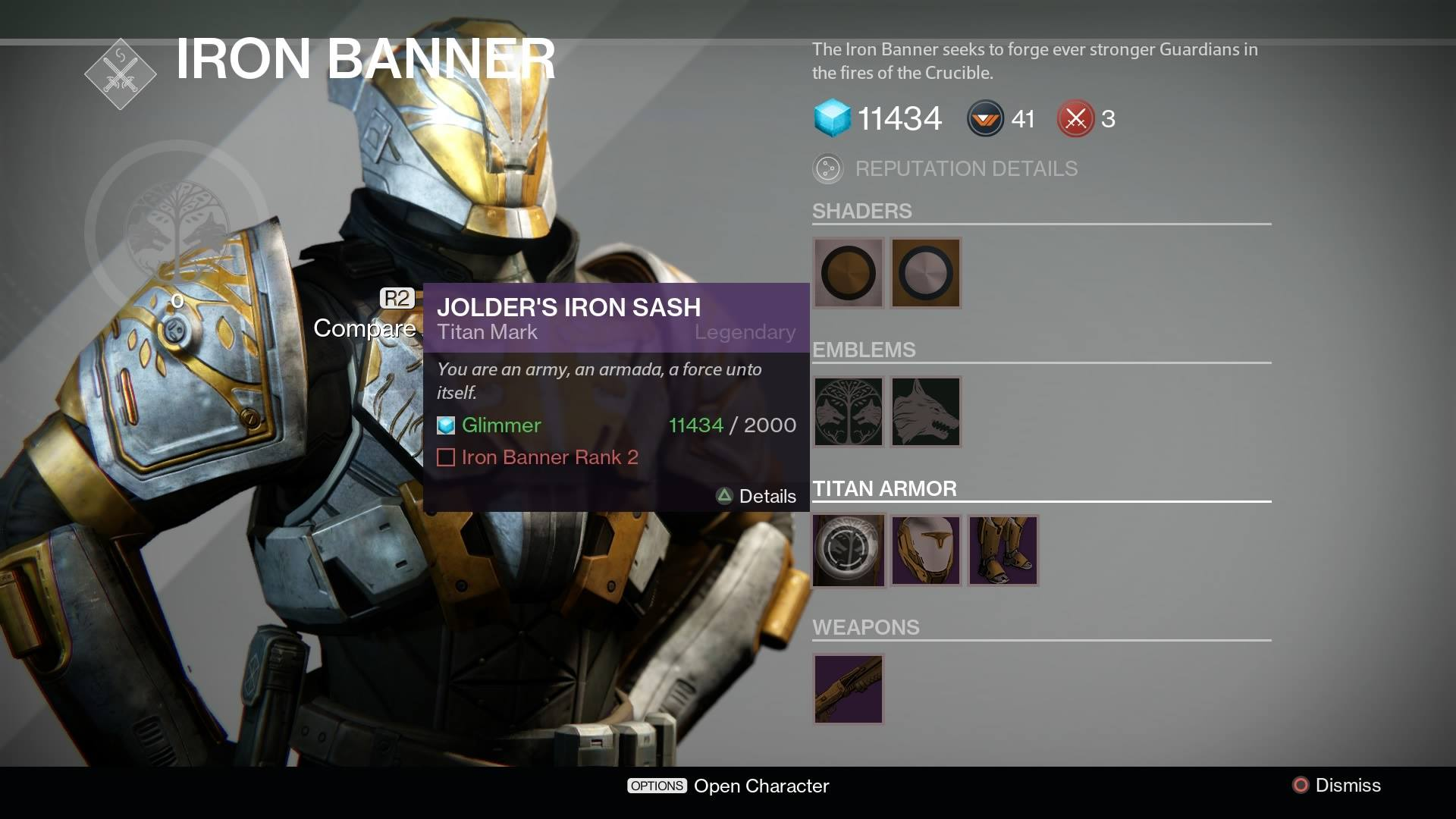 Destiny s iron banner is no longer live bungie explains why update