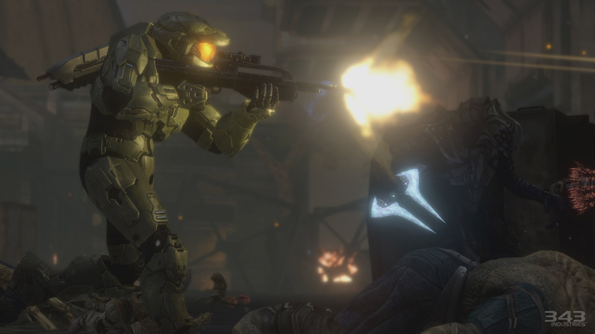 Here are some screenshots from every Halo game in The ...