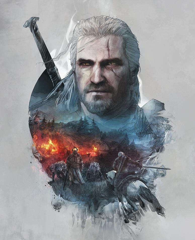 Witcher Book Cover Art : The witcher steelbook artwork is beautiful vg