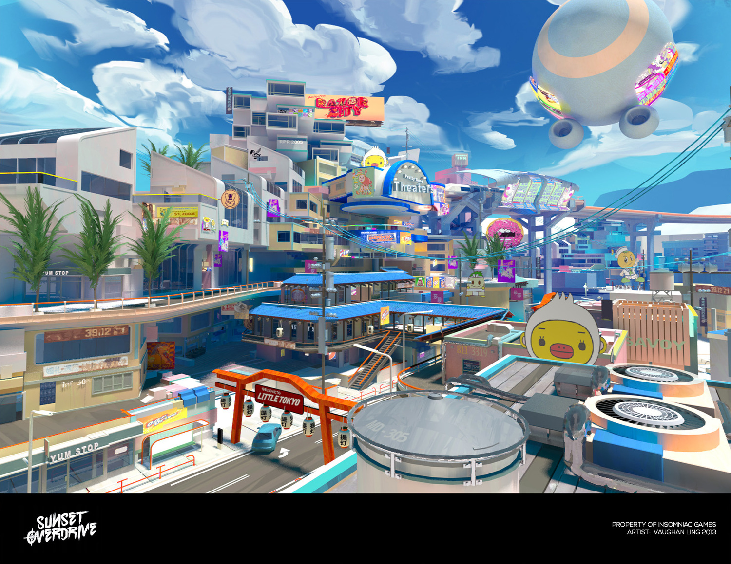 Sunset Overdrive Concept Art Is As Jovial As The Game Itself Vg247
