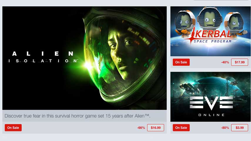 Alien isolation eve online and more discounted in humble store space