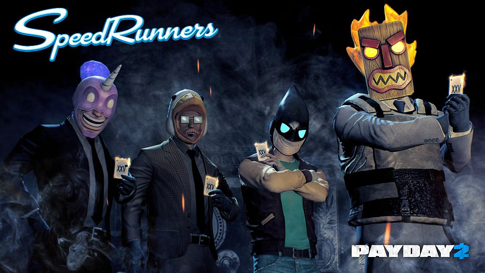 PayDay 2 And Speedrunners Mask Character Packs Out Now