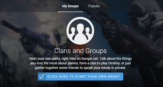 how to make a clan on destiny