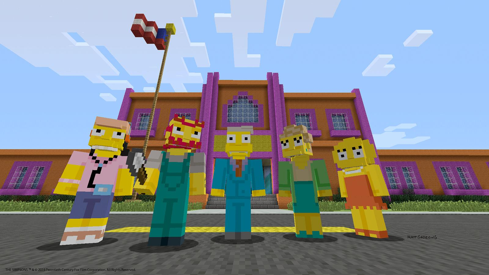 The Simpsons skins come to Minecraft on PlayStation this ...