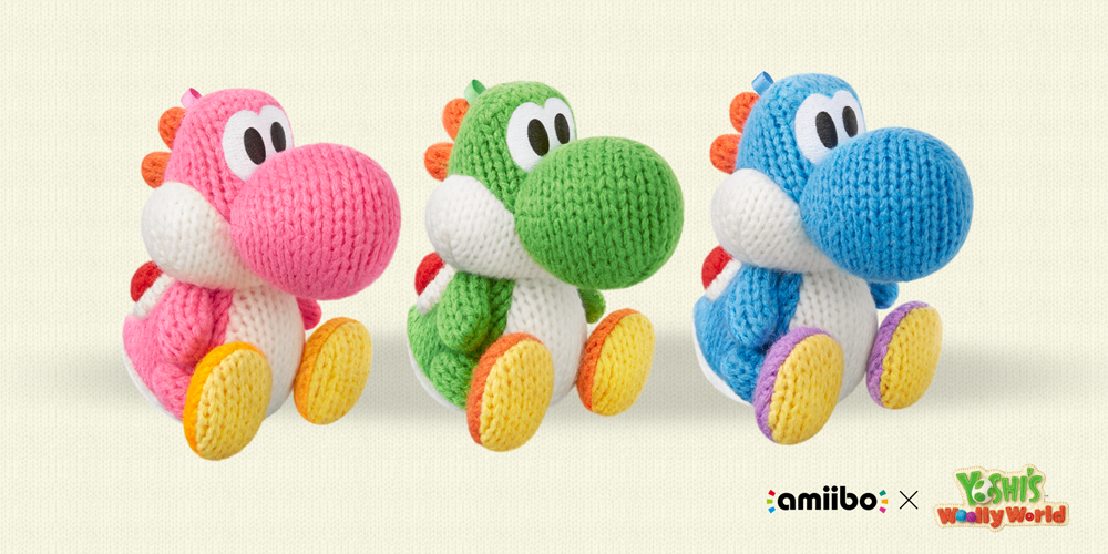 Yoshi s woolly world amiibo now available for pre order in the uk