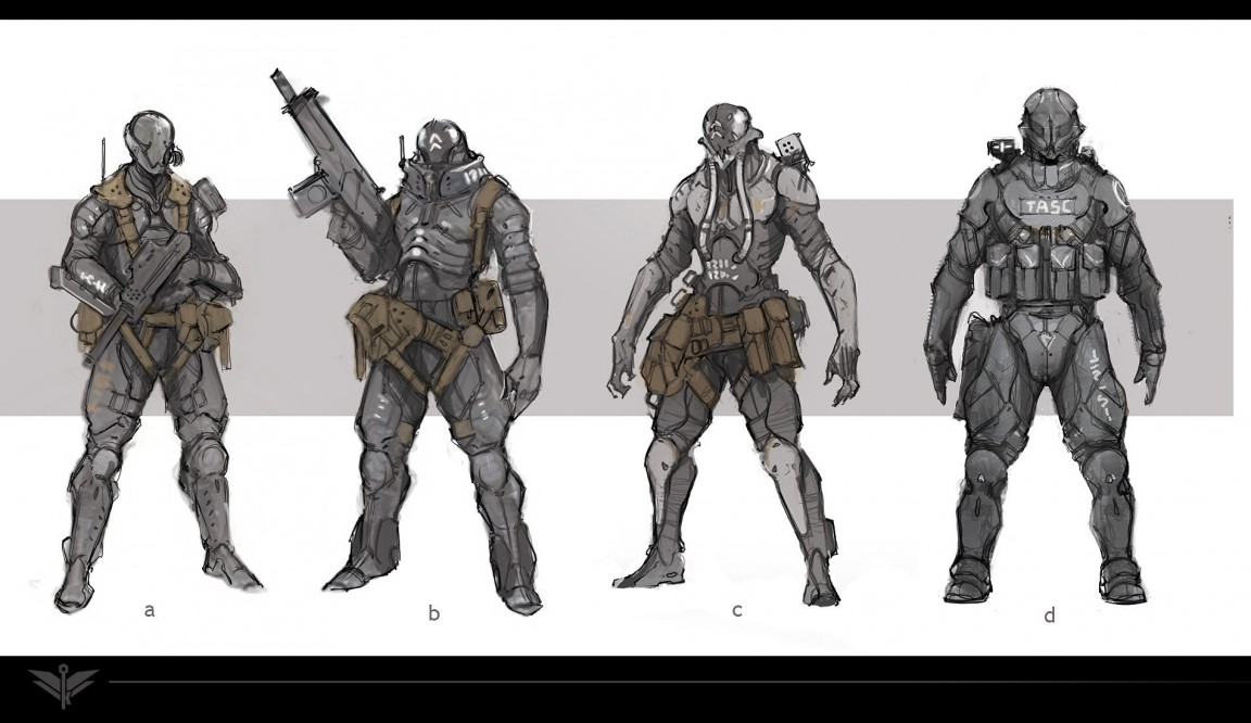 Character Design Evolution : Gears of war dev reveals guns from new shooter