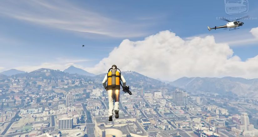 Never Drive In Gta 5 Again Use This Jetpack Mod Instead Vg247