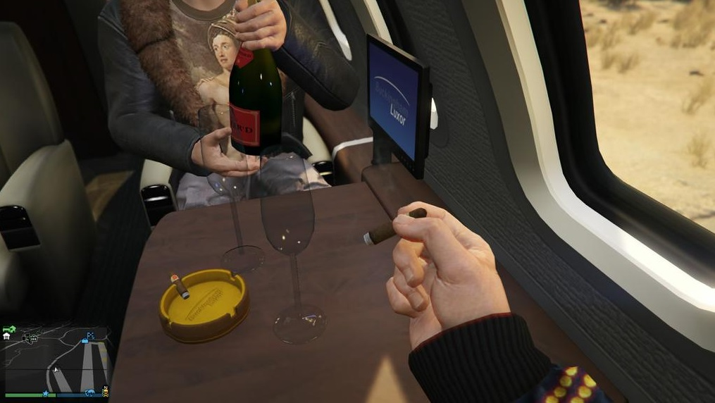 gta 5 luxor deluxe how to drink champagne