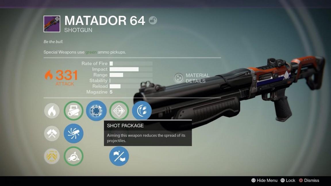 Destiny Is Matador 64 The Ultimate Shotgun Vg247