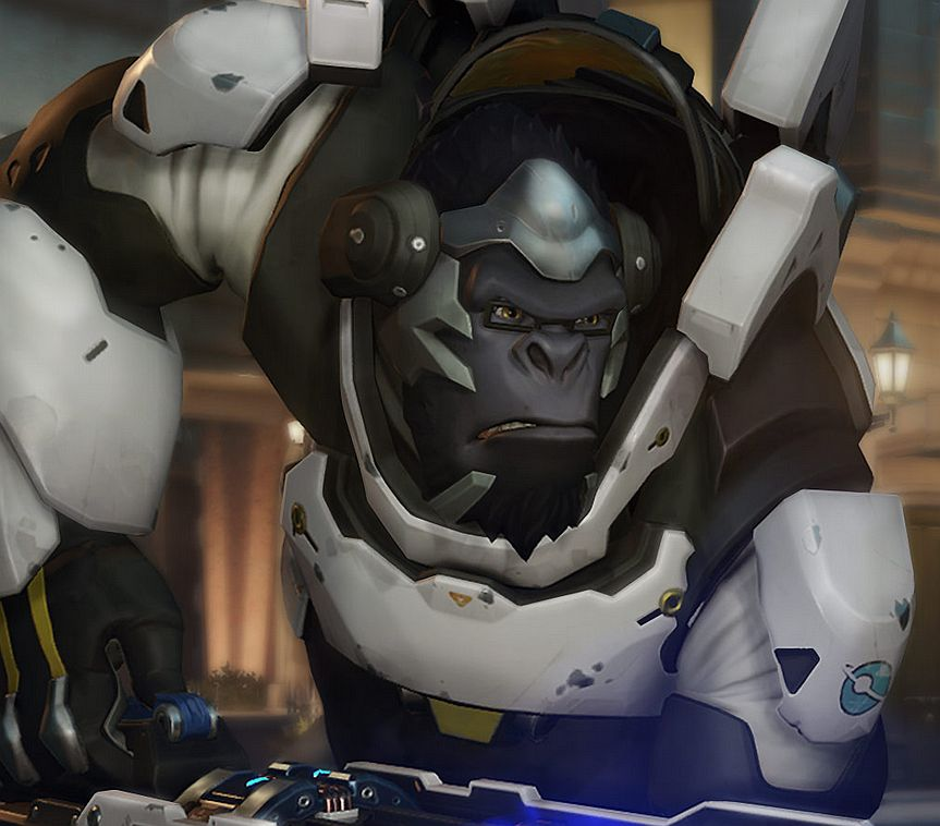 latest overwatch videos introduce you to winston the gorilla and widowmaker the assassin