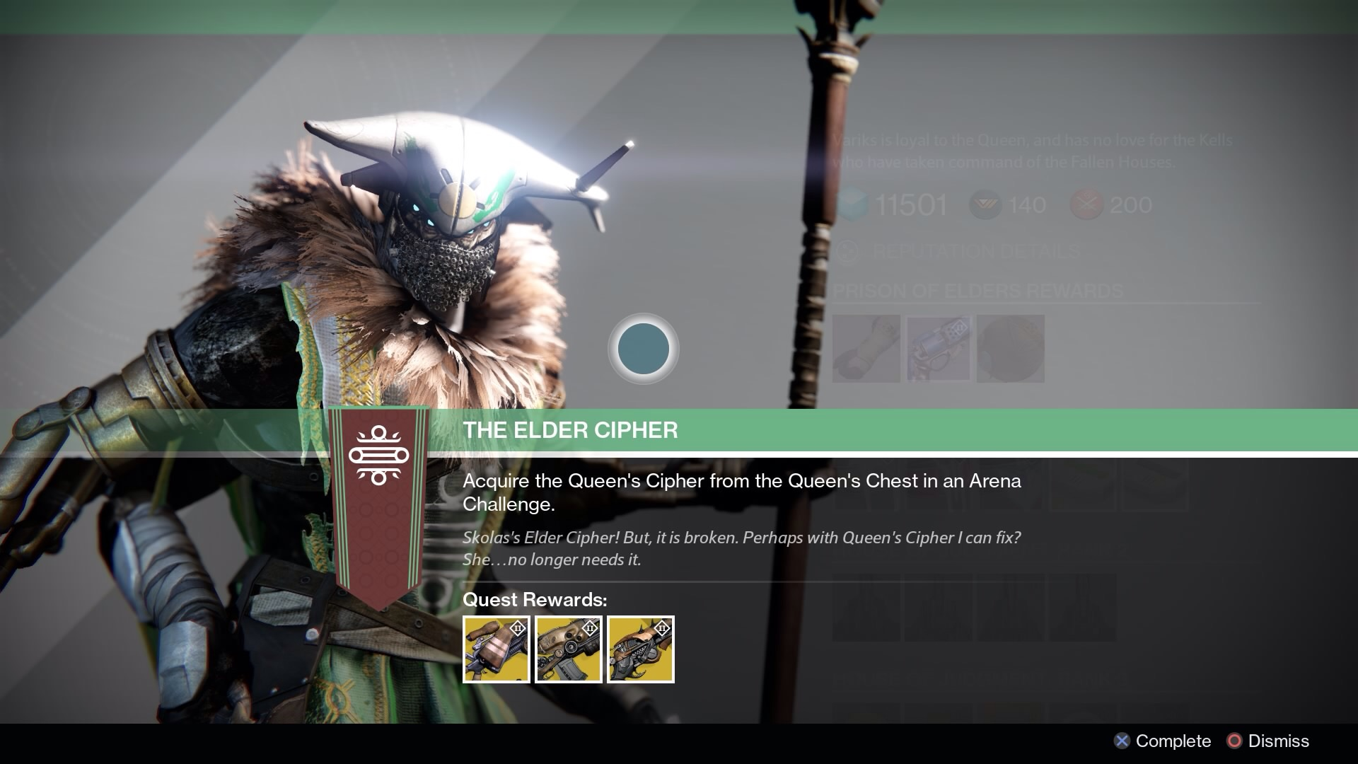 Destiny how to beat the elder cipher exotic weapon bounty vg247