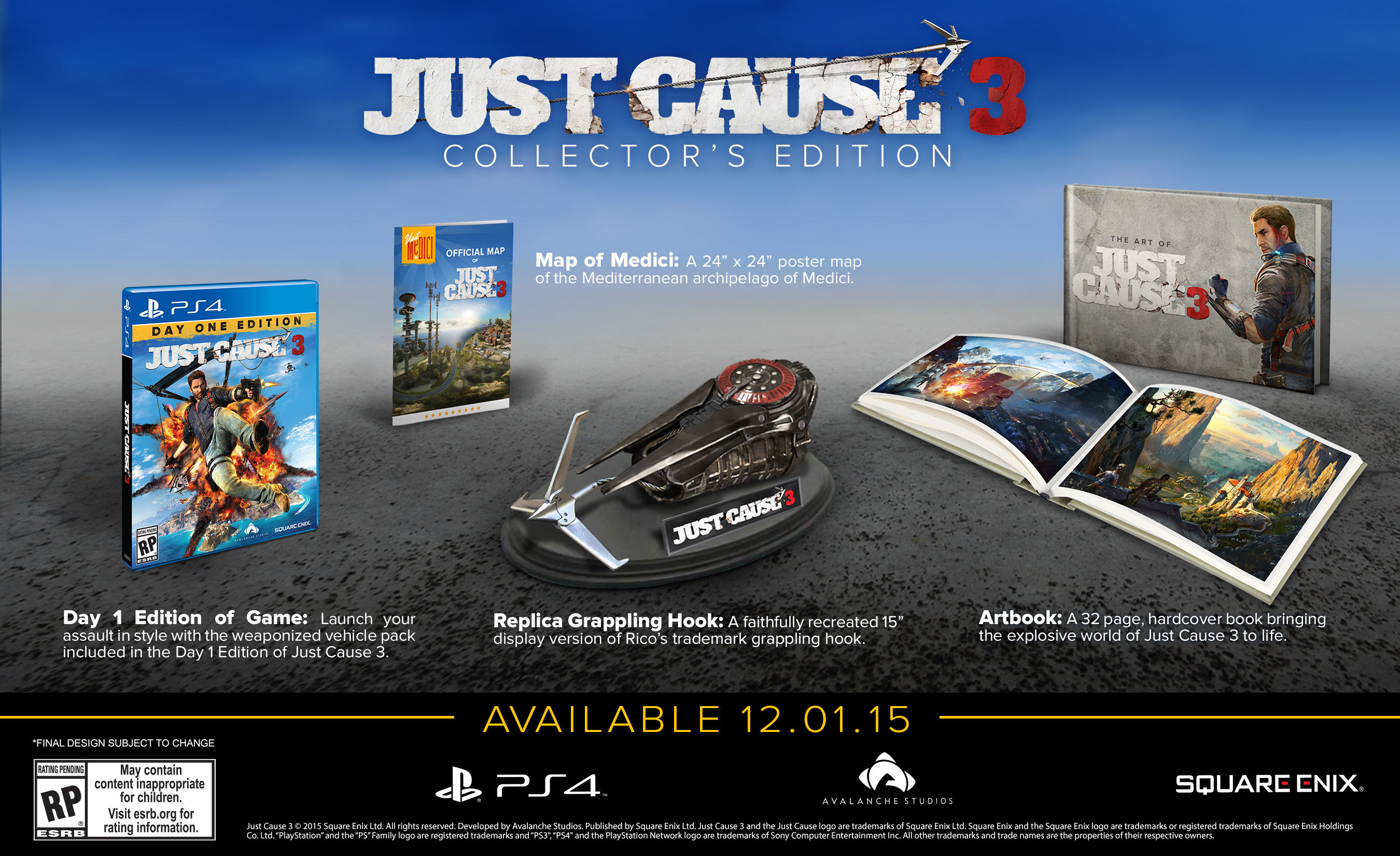 You Voted On The Contents Of Just Cause 3 S Collector S
