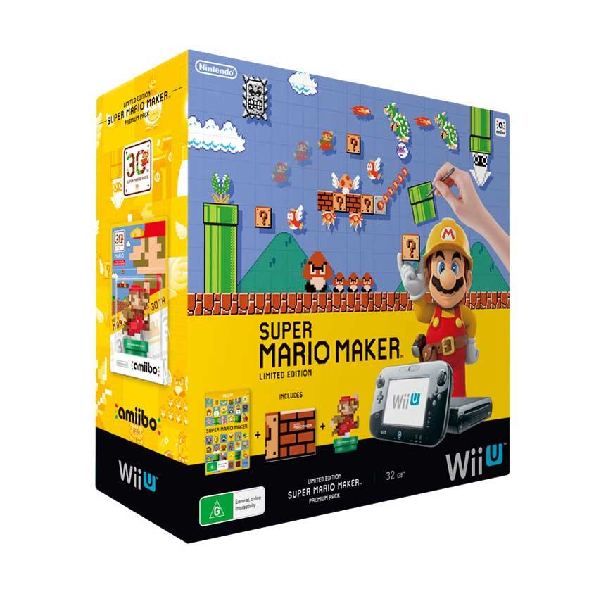 Super Mario Maker Limited Edition, Wii U bundle, Modern Colours Amiibo ...