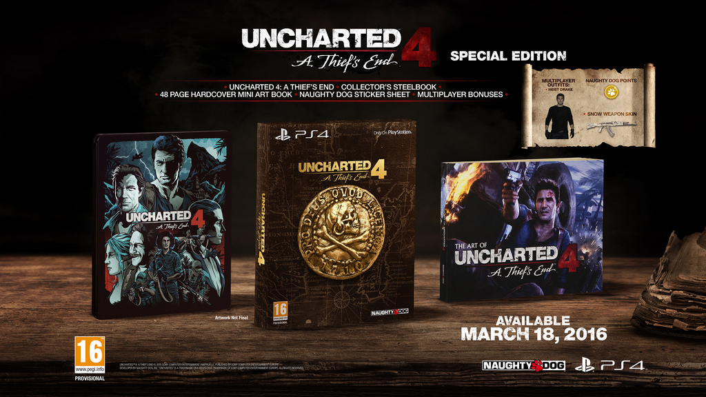 Uncharted 4 is coming to PS4 on March 18 with two fancy ...