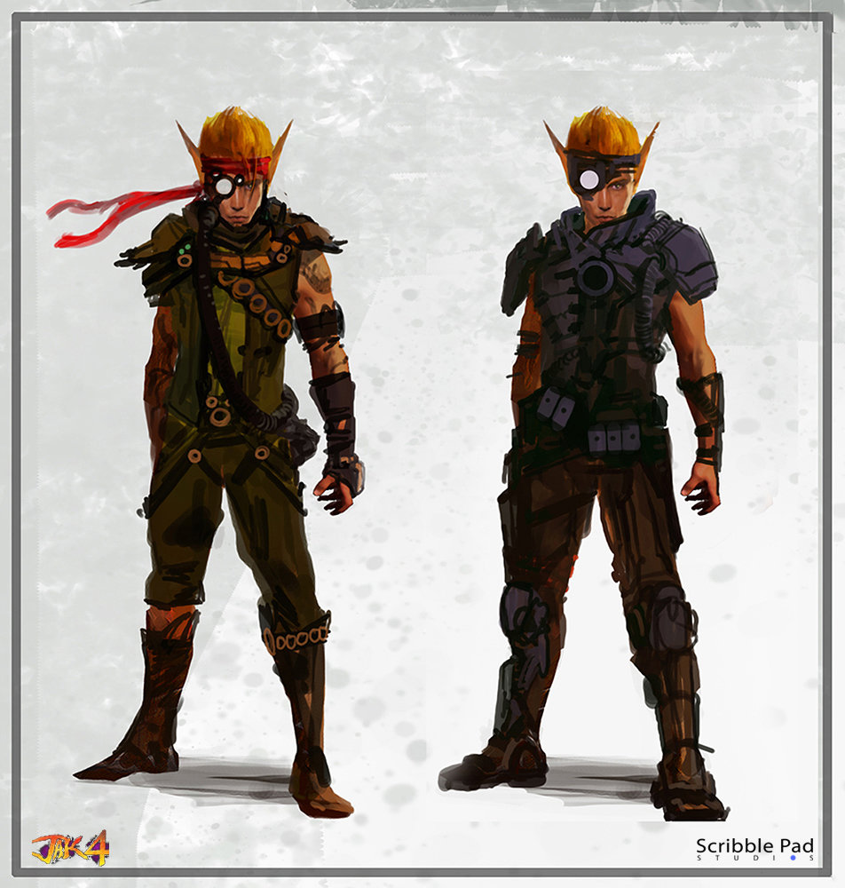 Concept art for canceled jak and daxter 4 project surfaces vg247
