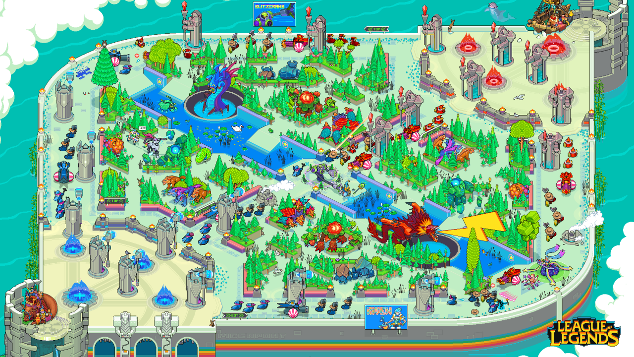 This Pixel Art Wallpaper For League Of Legends Map