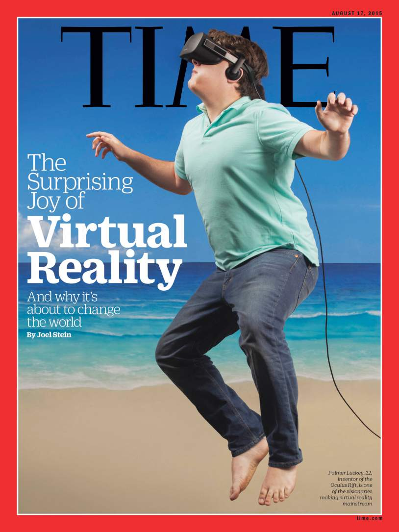 Time Magazine cover featuring Oculus Rift's Palmer Luckey ...