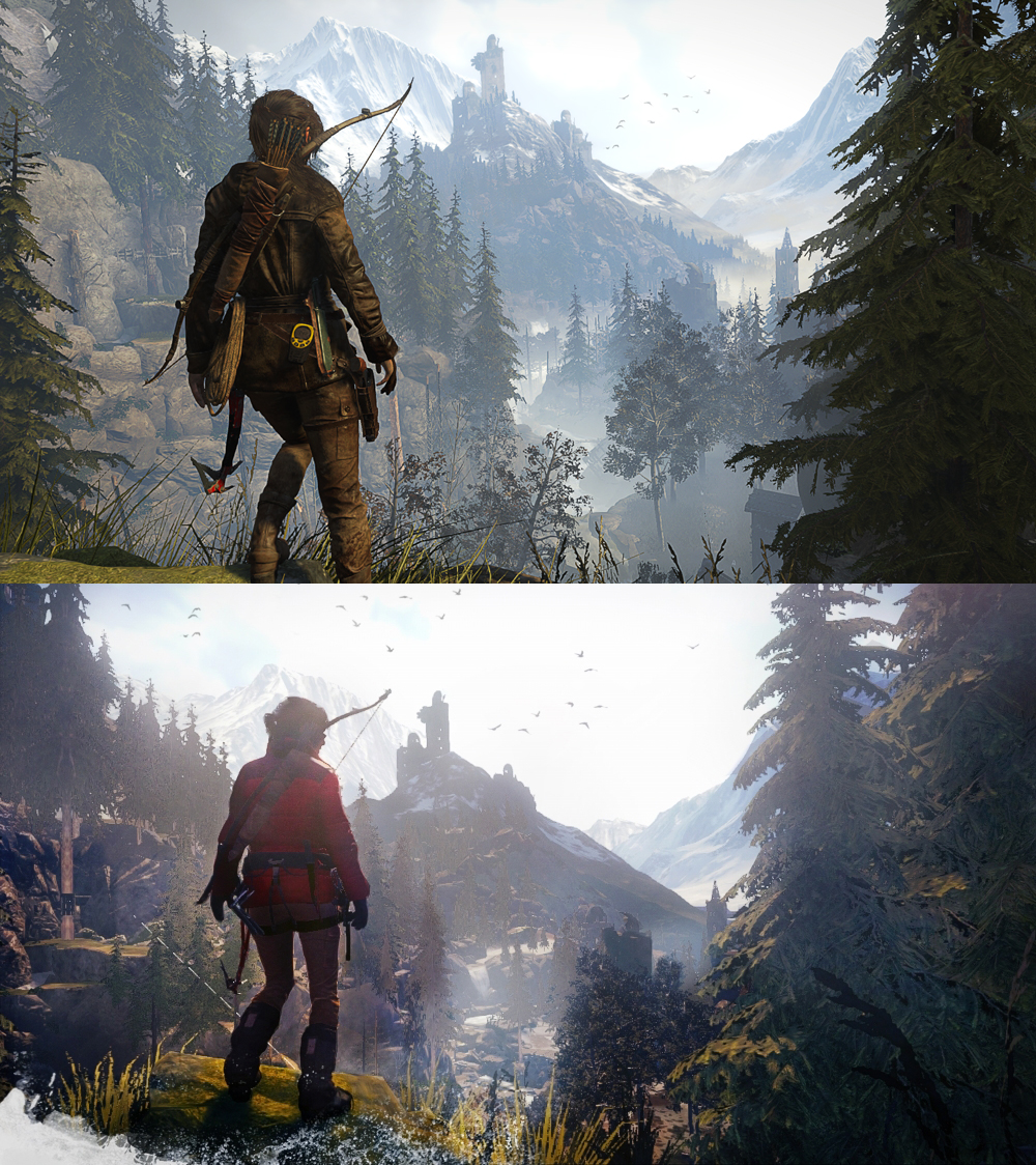 Tomb Raider Game: Compare Rise Of The Tomb Raider Graphics On Xbox One And