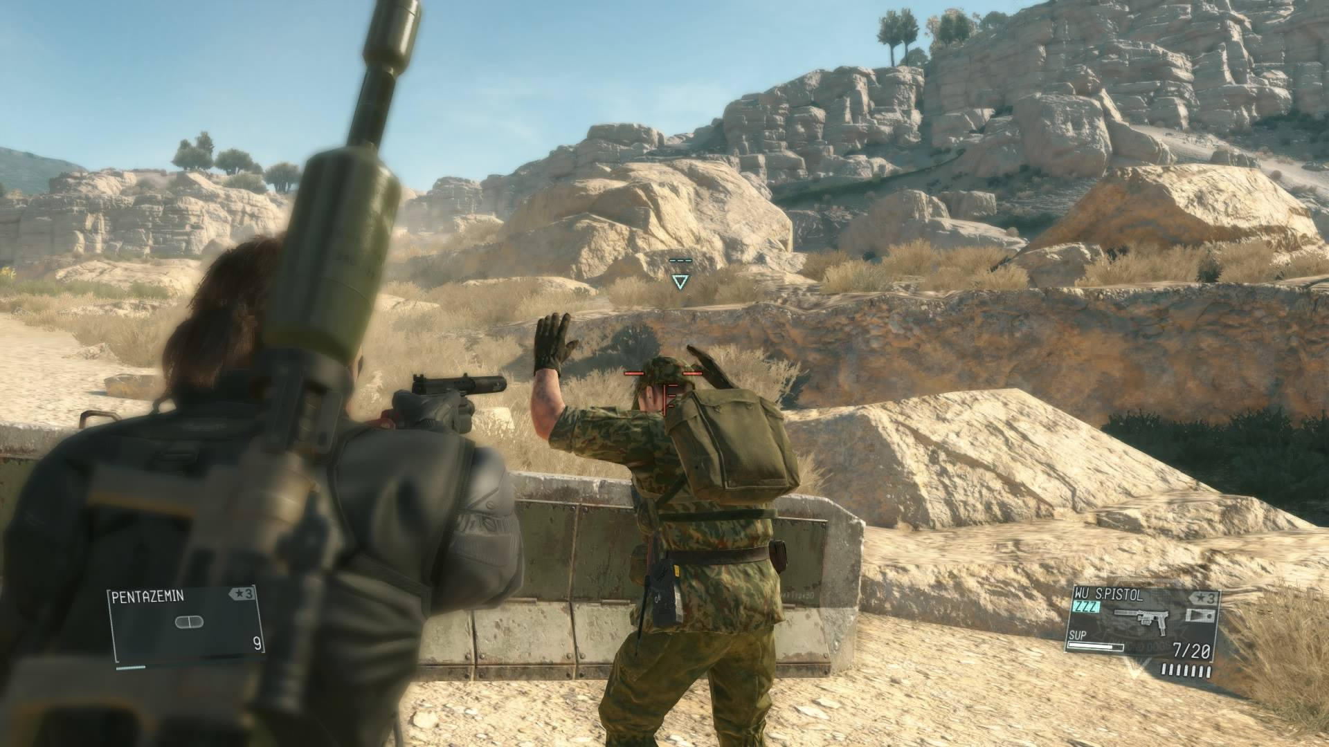 how to hold up the end mgs