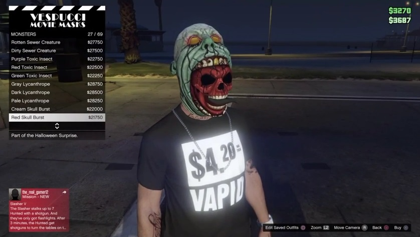 halloween masks gta 5