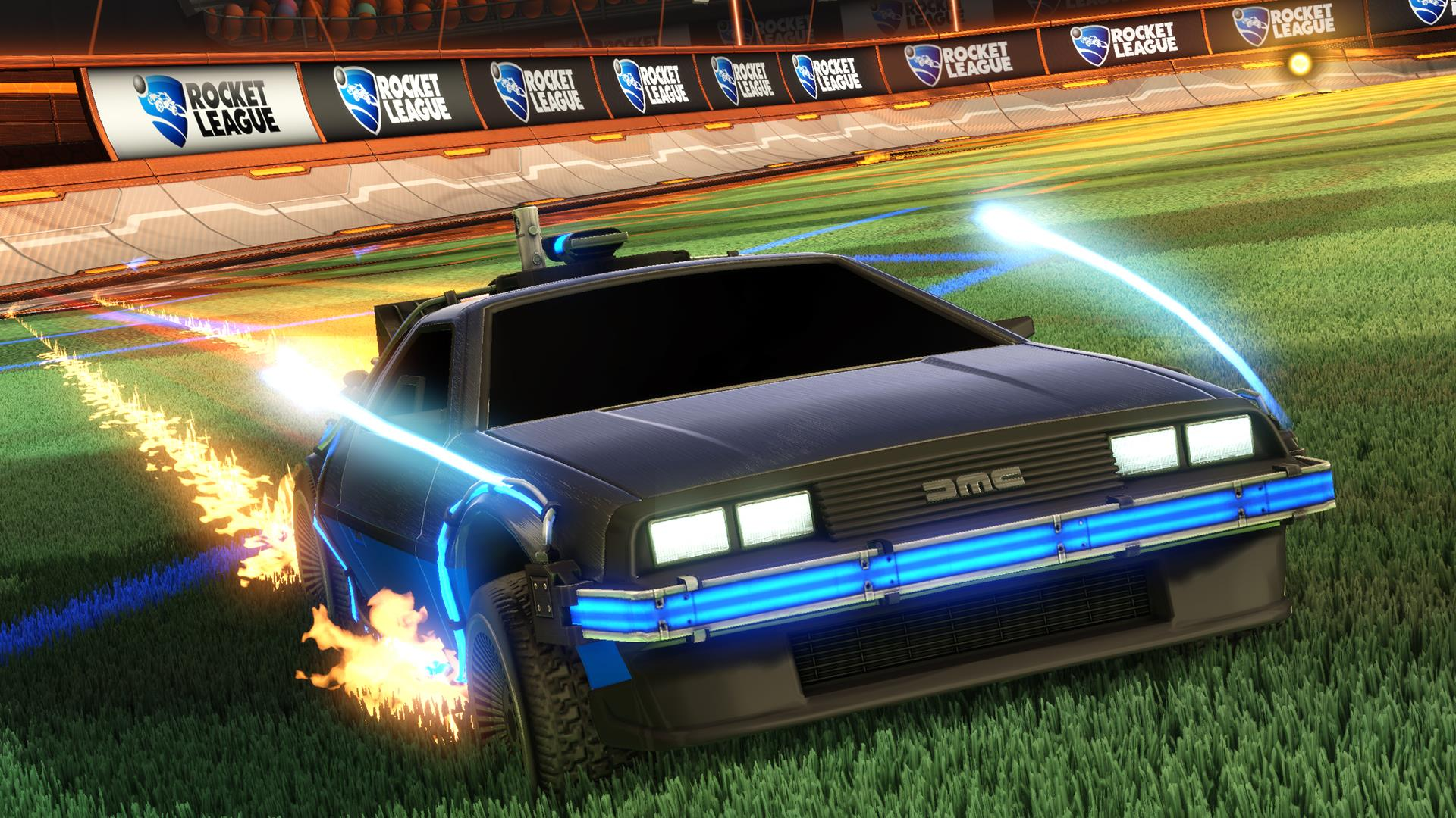 Rocket league is getting back to the future s delorean for Garage auto legue langueux