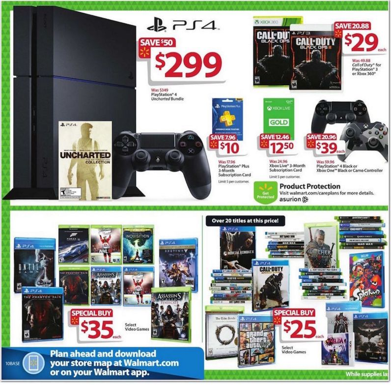 Walmart has deals on PS4 and Xbox One consoles this Black