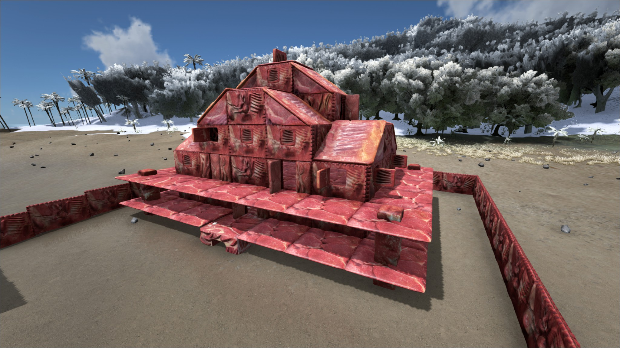 Build Your Own House Made Of Meat With This Ark Survival Evolved Mod on Modern Ranch House Plans